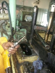 repair of Threads on Engine Block Under Process
